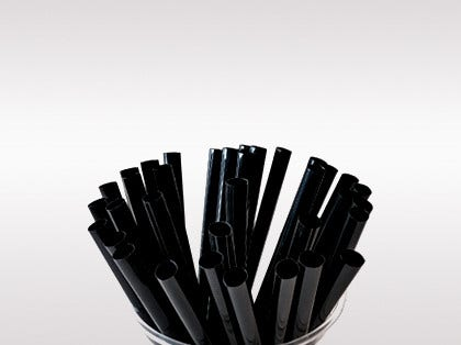 New: Black straws