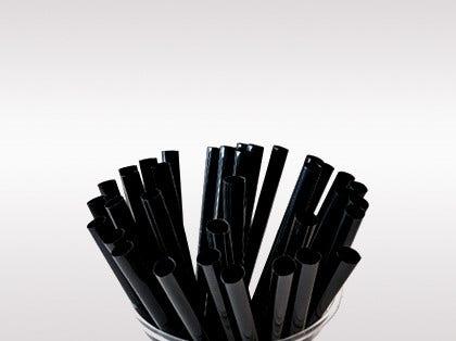 Neu: schwarze Cocktail Strohhalme